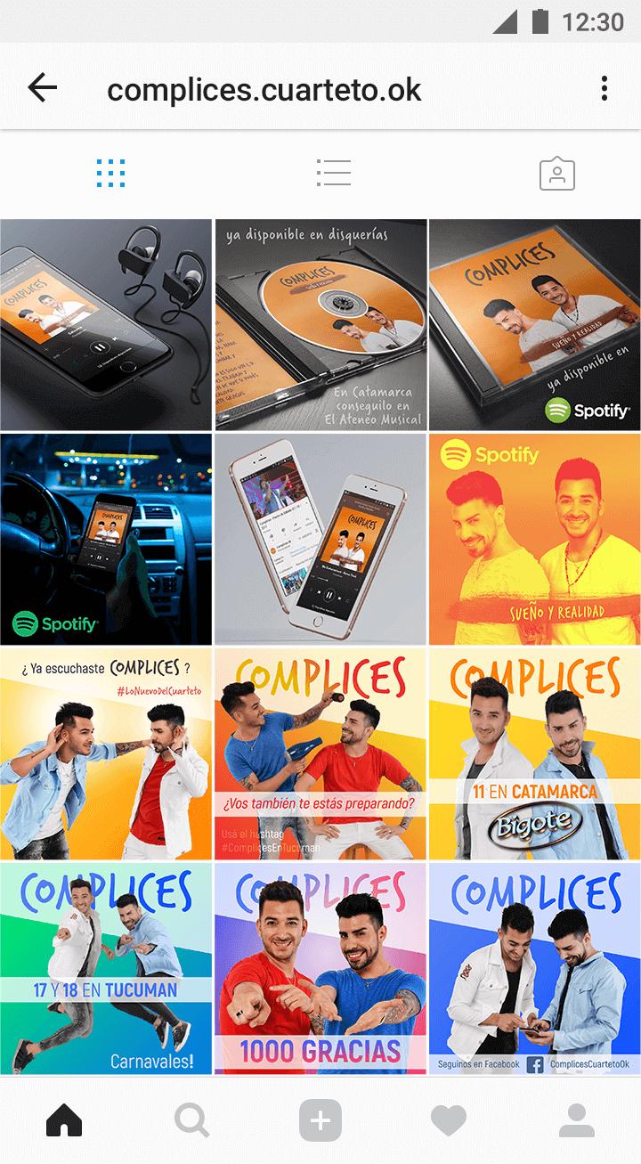 Marketing Digital - Cómplices Cuarteto